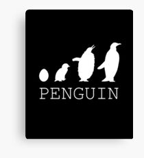 Penguin evolution Canvas Print