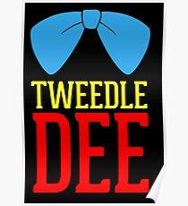 Tweedle Dee and Tweedle Dum Blue Poster