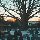 Sunset in the Churchyard by OntheroadImage