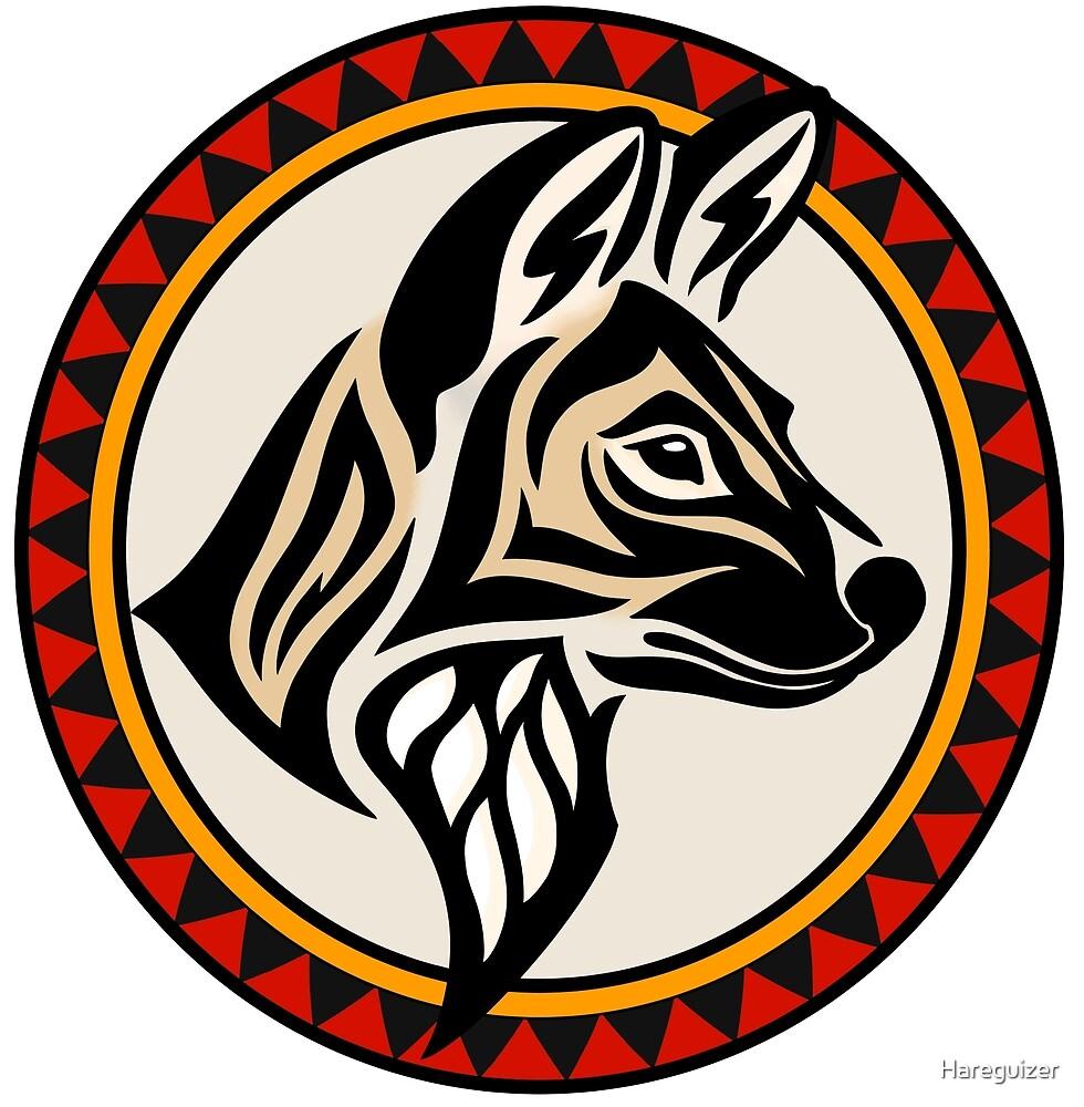 «Lobo pintado tribal» de Hareguizer