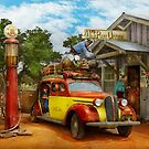 Gas Station - Fresh delivery to Pie Town 1940 by Michael Savad