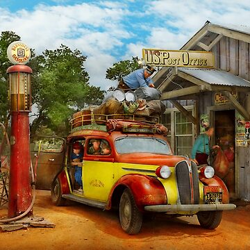 Gas Station - Fresh delivery to Pie Town 1940 by mikesavad