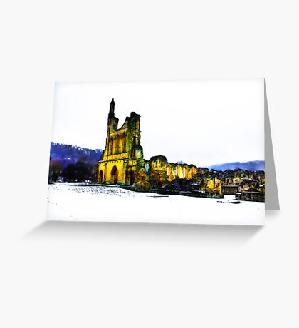Byland Abbey in Winter Greeting Card
