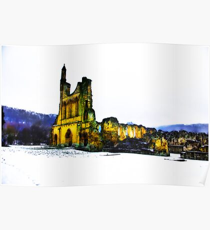 Byland Abbey in Winter Poster