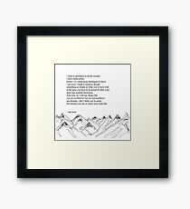 Wise words Quotes for women Framed Print