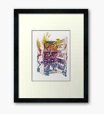Moldy Fridge - Who Forgot the Hum(m)us? Framed Print