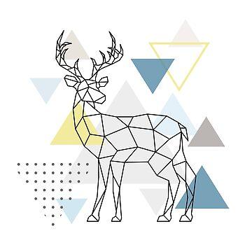 Scandinavian Geometric - Deer by HausOfAyr