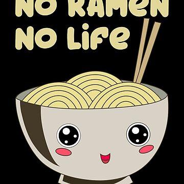 Ramen Bowl Japanese Pasta Soy Miso Noodle Soup by Basti09