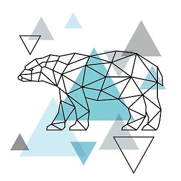 Scandinavian Geometric - Bear by HausOfAyr