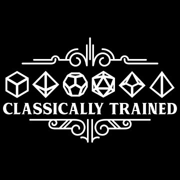 Classically Trained Polyhedral Dice Set White Tabletop RPG Addict by pixeptional