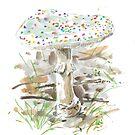 Pilz mit bunten Punkten von MushroomOTD