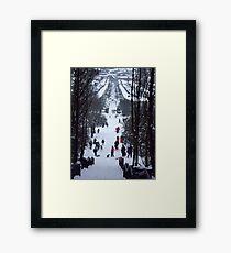 Park snow scene Framed Print