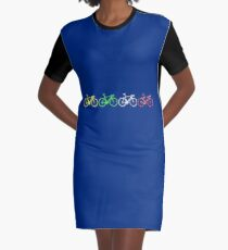 Bike Stripes Tour de France Jerseys v2 Graphic T-Shirt Dress