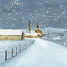 Balblair Distillery (snow) by Ross Macintyre