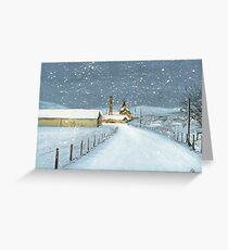 Balblair Distillery (snow) Greeting Card