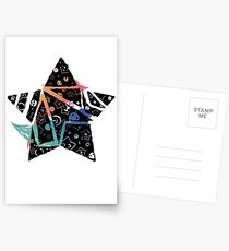 Inked Colorful Star Postcards