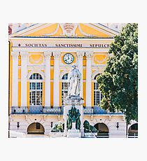 Place Garibaldi, square in the center of Nice, France Photographic Print