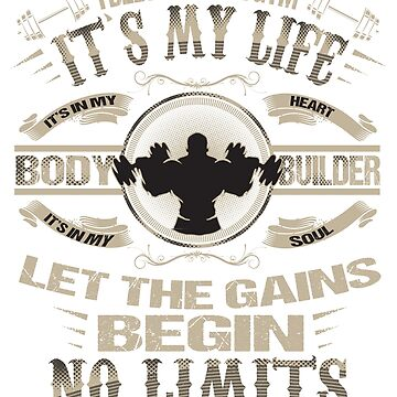 I Belong In The Gym Let The Gains Begin T-Shirt by mia1949