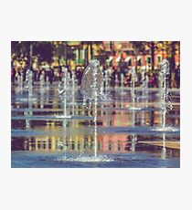 Fountain in the center of Nice, France Photographic Print