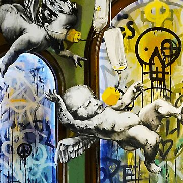 Banksy Baby Angels on Oxigen by furioso