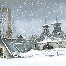 Strathisla Distillery (snow) by Ross Macintyre