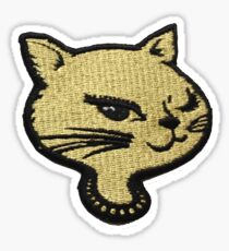 winking cat stickers redbubble