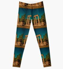 Greece. Ancient Olympia. Ruins of Philippeion. Leggings