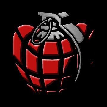Hand Grenade Love Heart by Ice-Tees
