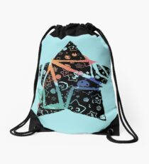 Inked Colorful Star Drawstring Bag