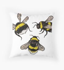 Bumblebees Throw Pillow