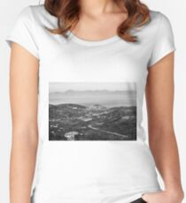 Agropoli landscape with sea Women's Fitted Scoop T-Shirt