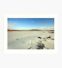 Mullaghmore mountain in winter Art Print