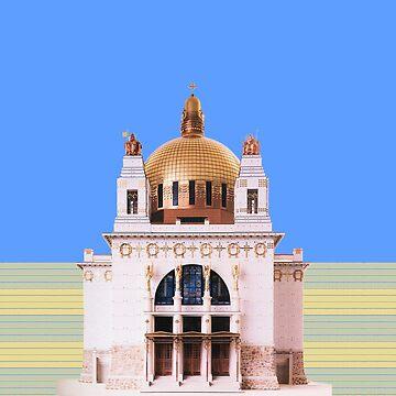 ARCHITECTURE church at Steinhof Vienna Austria golden dome by Mauswohn