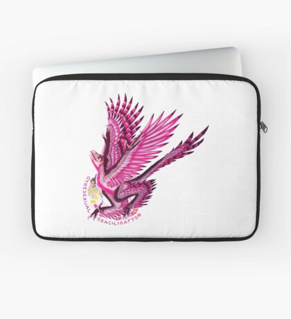 Gynesexual Graciliraptor (with text)  Laptop Sleeve