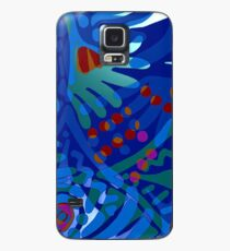 Colorful Tropical Print Abstract in Blue and Green Case/Skin for Samsung Galaxy