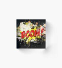 Comic blast blast effect watercolor painted Acrylic Block