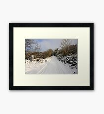 Clare road in winter Framed Print