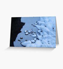 Ice Blue Greeting Card