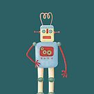 Cute Vintage Retro Robot by Nic Squirrell