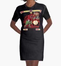 Street Frighter Graphic T-Shirt Dress