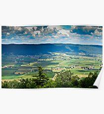Pennsylvania 'patchwork quilt' Poster