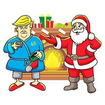 President Trump Santa Coal For Christmas by frittata