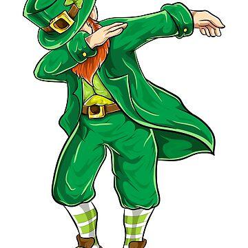 Dabbing Leprechaun St Patrick's Day by stpatricksday