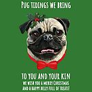 Carolling Christmas Furries – Pug (white text) by RulaVam
