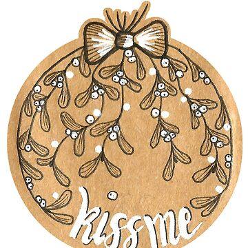 kiss me mistletoe by DoughtycreARTiv