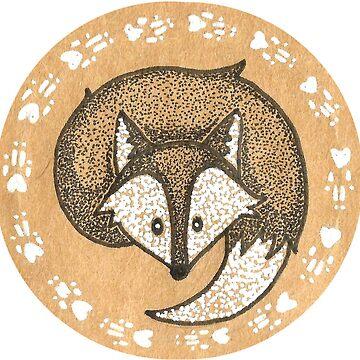 snow fox by DoughtycreARTiv