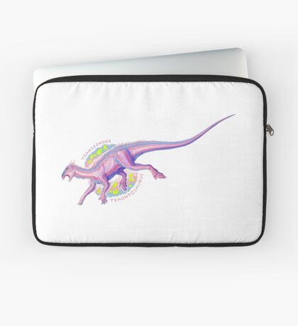 Transgender Tenontosaurus (with text)  Laptop Sleeve