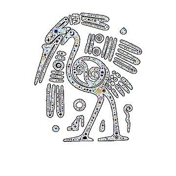 Artist Gift Idea for Bird Fans Retro Pelican by qwerdenker