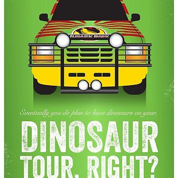 Jurassic Park - Jeep Print by gbloomdesign