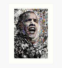 """""""Ich bin kein perfekter Mann"""", Obama Bürgerrechte und Protestcollage Kunstdruck"""